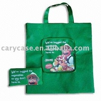 Foldable non woven Shopping Bag with zip pocket