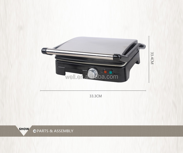 4 Slice Automatic Stainless Steel Electric Ceramic BBQ Steak Panini Contact Grill