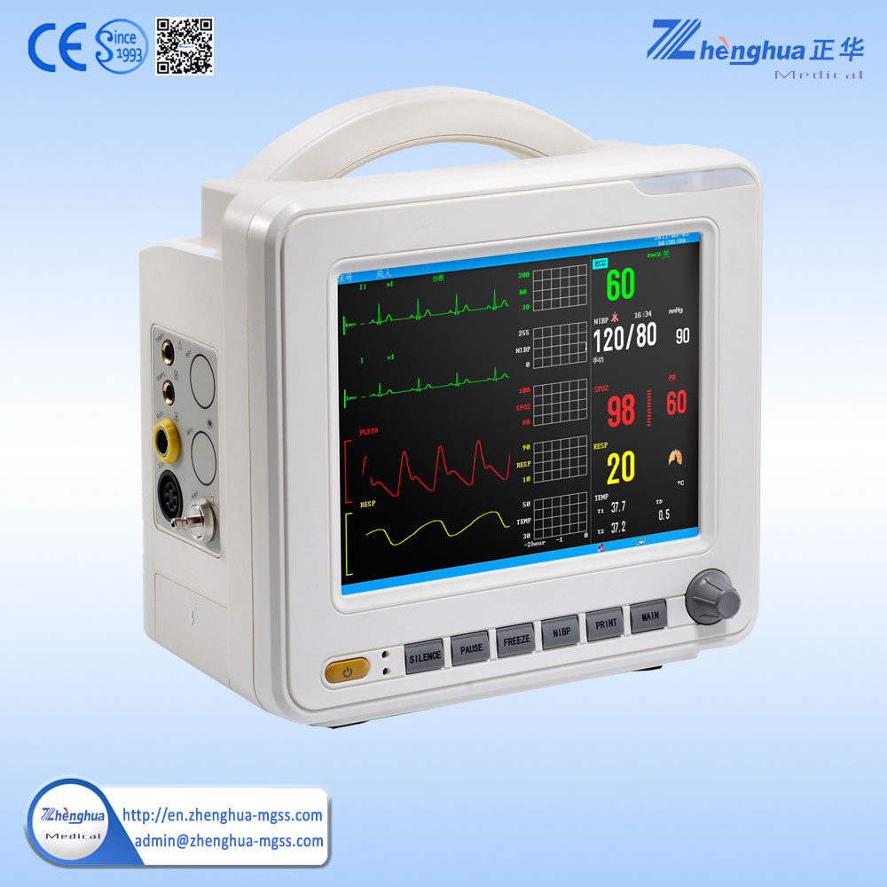 Hot Sale 12 inch cheap touch screen monitor multi parameter bedside patient monitor