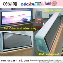 3G/4G taxi roof top advertising signs Oscarled P5 outdoor with high quality free led advertising taxi screen