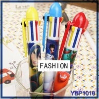 Cartoon Charactor plastic ball pen office and school stationery short ballpoint pen