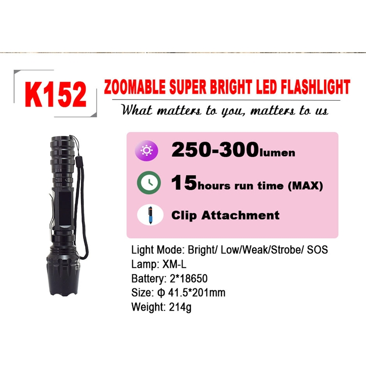 Superior Quality  Led Torch Rechargeable High Power Penlight Flashlight