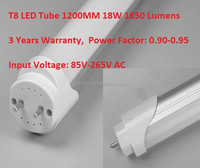 25pcs/carton 18W LED T8 Tube 1200MM 1800LM USD 5.99 / PC