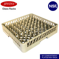 64-Compartment Plate and Tray Dishwasher Rack
