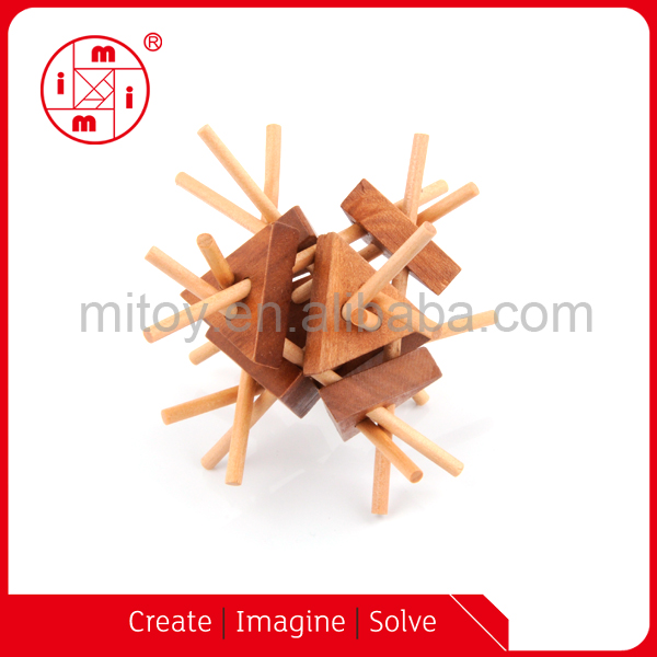 3d wood pyramid puzzle brian twisters IQ Fit Puzzle