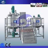 fixed type vacuum hand cream homogeneous emulsifier with hydraulic system for cream/lution/paste making