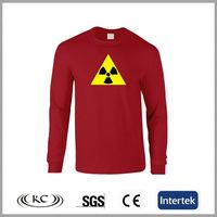 fashion good price usa red polyester long sleeve t-shirt slim fit men