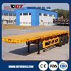 OBT tri-axle 20ft container flatbed truck trailer / semitrailer / container semi-trailer with twist lock