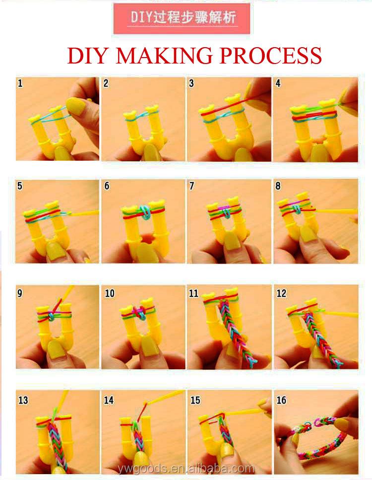 Инструкция как делать браслеты из резиночек