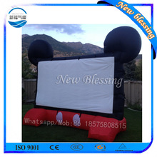 New Design Inflatable Type Movie Screen Outdoor Portable Advertising Air Screen