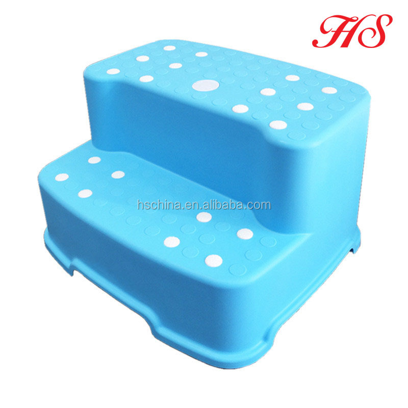 Colorful nonslip surface plastic baby step stool 2 step for kids in toilet