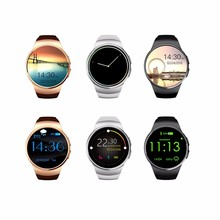 2016 KW18 Smartwatch IPS Round Screen Bluetooth Heart Rate Monitor Anti-lost Support SIM Card Android and IOS Phone Smart Watch