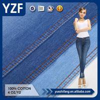 light textured 100 plaid cotton twill pasiley denim jean fabric price