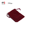 Promotional cheap jewlery drawstring velvet bag