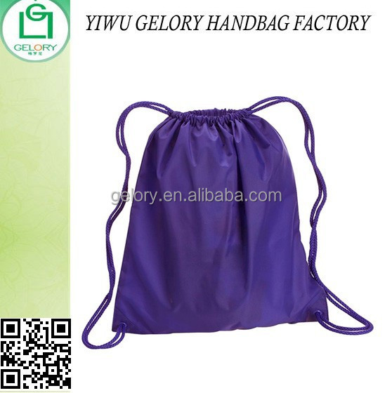 Polyester Easy Storge Navy Cinch Up Backpack Cheaper Sporty Drawstring bag for promotion