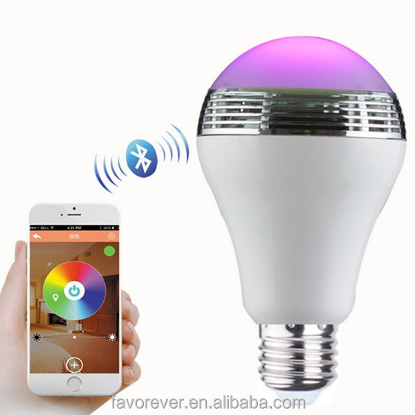 2016 wireless smart led light bulb bluetooth speaker with CE,RoHs
