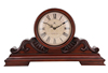 table clock skeleton clock in round shape desk clock wooden with vintage design for promotion gift 2013