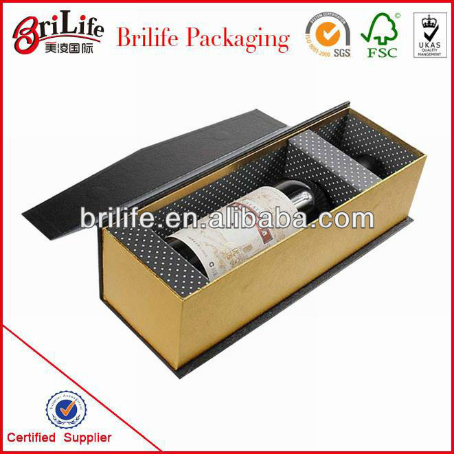 Elegant luxury rigid wine box