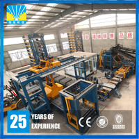 Fully automatic cement fly ash concrete block machine plant