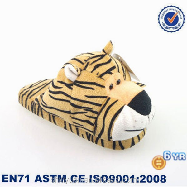 Kids Winter Slippers/Stuffed Tiger Shoes/Plush Animal Slippers