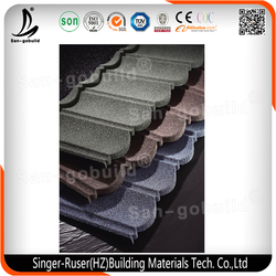 High Quality Good Appearance Chinese Style Stone Coated Metal Roof Tile for Sale