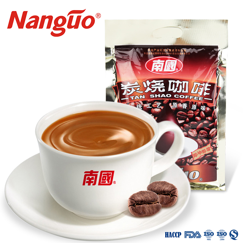 NanGuo Charcoal Roasted Coffee 340G 3 in 1 Instant Coffee Powder