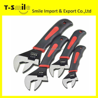 Adjustable Wrench Professional Chrome Plated Carbon Steel Spanners Set Of Tools