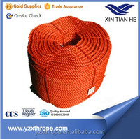 3strand 16mm Tow Boat Ship Braided Polyester Battle Rope