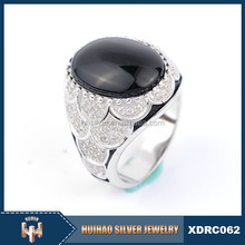 Alibaba Wholesale Turkish Men 925 Sterling Silver Fashion Ring With Stone
