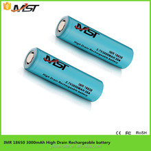 high capacity 18650 rechargeable li-ion battery 3.7v 3000mA electric bike battery