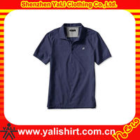 OEM newest comfort short sleeve embroidered 100% polyester very cheap garments