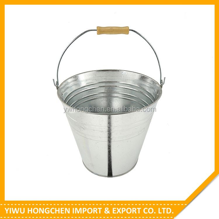 New product attractive style plain colored metal buckets with good prices