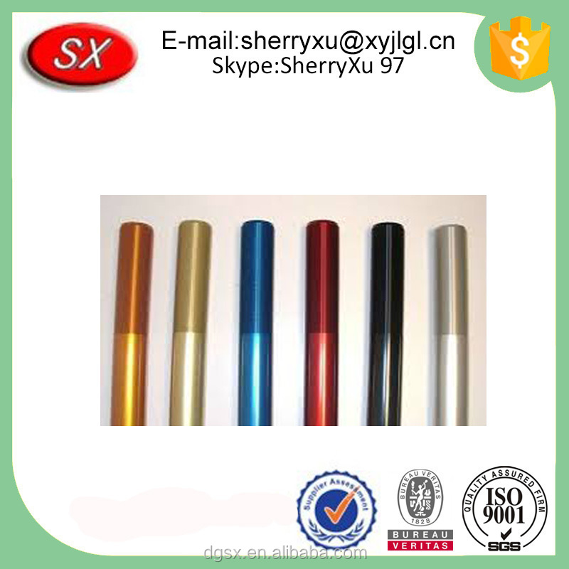 Customized precision CNC machining service colored anodized aluminum tubing