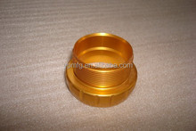 High quality cnc machining motorcycle accessories, golden anodized aluminum cover/ parts custom fabrication manufacturer