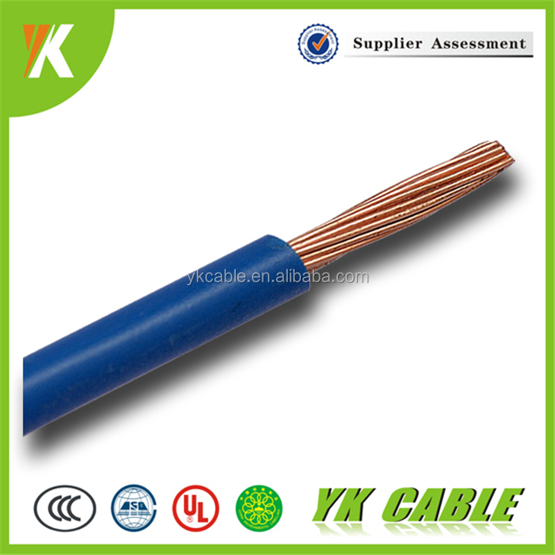 High quality single core 4mm 2.5mm 1.5mm pvc cable