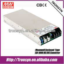 Meanwell SD-1000L-24 1000W 24V 40A Single Output LED Enclosed 1000W 24V 12V DC-DC Converter Power Supply