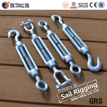 Galvanized Dropped Forged 16mm 20mm Steel DIN1480 Turnbuckle with Lock Nuts