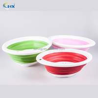 promotional plastic folding vegetable colander bowl