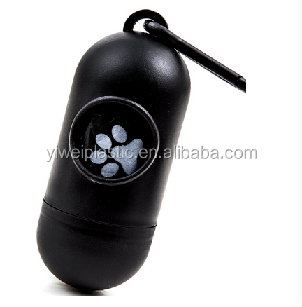 Biodegradable Customized Printed pet Waste Bag/dog Poop Bag with pill shape dispenser