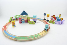 Wooden toys farm track train set,wooden railway tracks