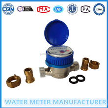 Brass adapters and nuts for single jet water meter