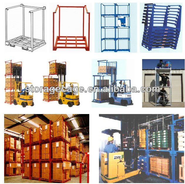 stackable heavy duty warehouse Warehouse storage pallet shelf adjustable long span steel stacking rack