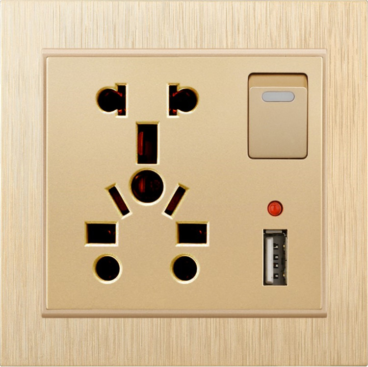New design wall universal multifunction usb electrical switch socket