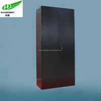 Black two door metal combination lock office cupboard