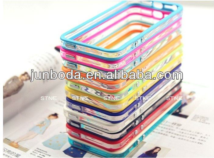 for iphone5 dual color silicone bumper