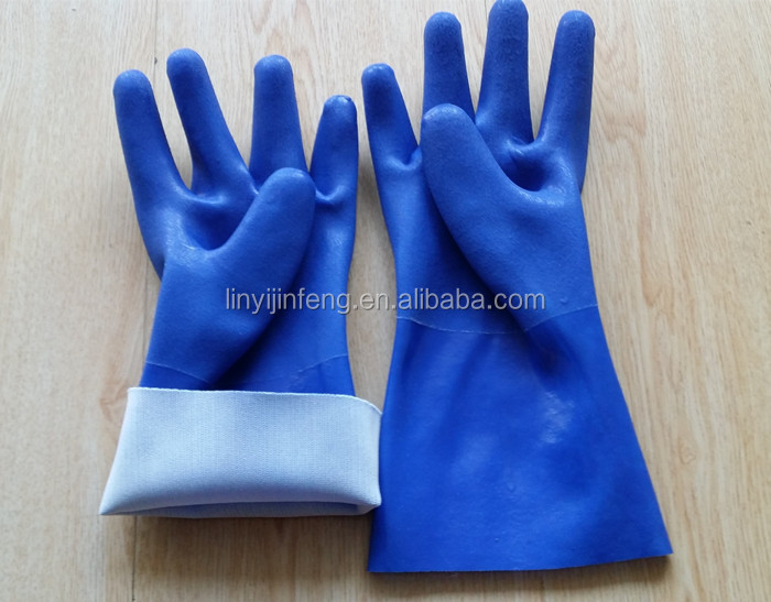 industrial pvc gloves pvc gloves with long sleeve safety work chemical resistant gloves