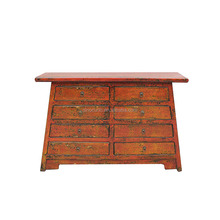 Asian style reproduction rustic lacquer hobby lobby wood cabinet with many drawers
