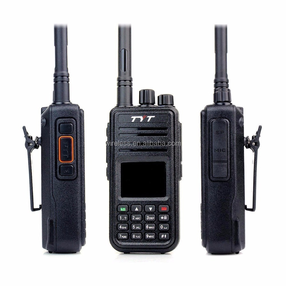 Original DMR Digital TYT MD-380 Walkie Talkie 1000 Channels VHF 136-174MHZ Cable,DMR Walkie Talkie
