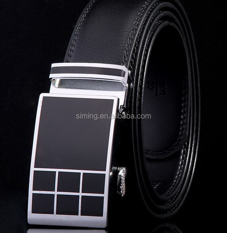 Top quality cheap classic men's leather braid belt