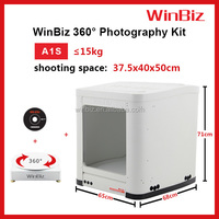 WinBiz A1S white background photography with PC-controlled 360 degrees turntable & portable photo studio for product photography